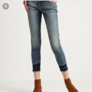 Premium denim cuffed ankle jeans